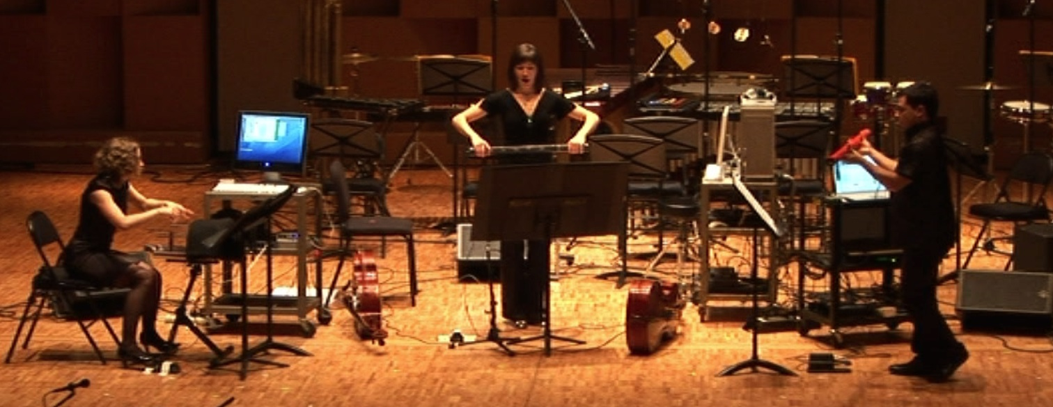 Screenshot of the McGill Digital Orchestra performing at MusiMars 2008.