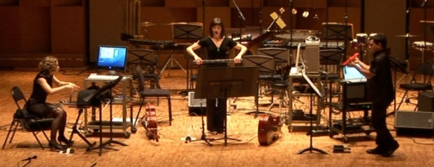 Screenshot of the McGill Digital Orchestra performing at MusiMars 2008.