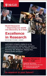 "The Poster for McGill's ""Excellence in Research Exhibition 2009"""