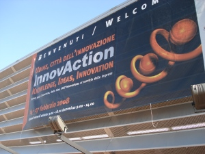 Banner for the Innovaction fair in Udine, Italy