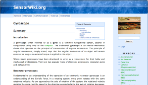 A screenshot from the new version of SensorWiki.org