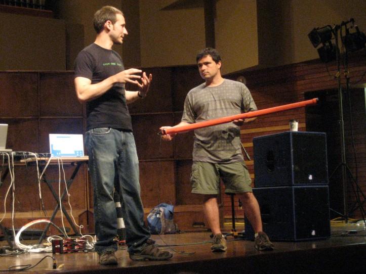 Joseph Malloch and Fernando Rocha and their Sound Symposium workshop