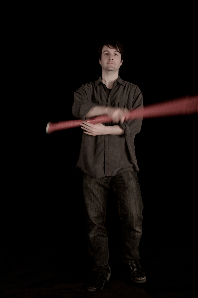 D. Andrew Stewart with the T-Stick. Photo by Vanessa Yaremchuk.
