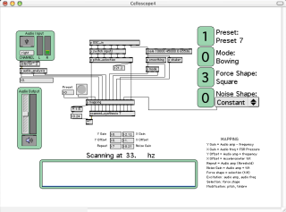 MaxMSP patch for running the Celloboard DMI.