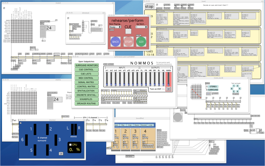MaxMSP patch for Nommos