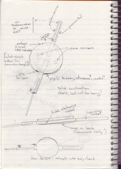 Planning sketches for version 2 of the Celloboard DMI
